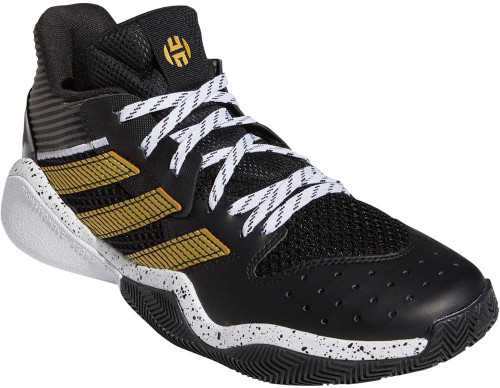 Adidas Harden Stepback Mens Category: Basketball Color: Core Black - Goldmetallic - White ItemNumber: MFX7655