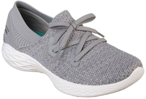 Skechers You Prominence Womens Category: Fashion Sneakers Color: Grey ItemNumber: W15807GRY