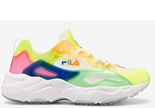 Fila Ray Tracer TL Womens Category: Fashion Sneakers Color: White - Knockout Pink - Prince Blue ItemNumber: W5RM01053-149