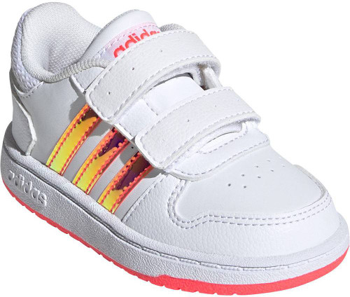 Adidas Hoops 2-0 Toddler Girls Category: Fashion Sneakers Color: White - White - Signal Pink ItemNumber: SFW7614