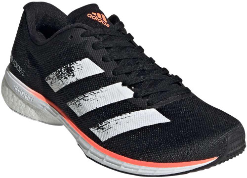 Adidas Adizero Adios 5 Womens Category: Running Color: Core Black - White - Signal Coral ItemNumber: WEE4301