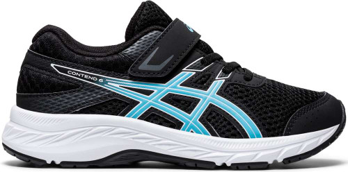 Asics Contend 6 PS Girls Category: Running Color: Black - Ocean Decay ItemNumber: G1014A087-003