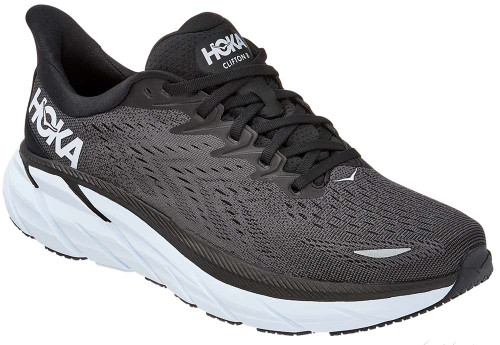 Hoka One One Clifton 8 Mens Category: Running Color: Black - White ItemNumber: M1119393-BWHT
