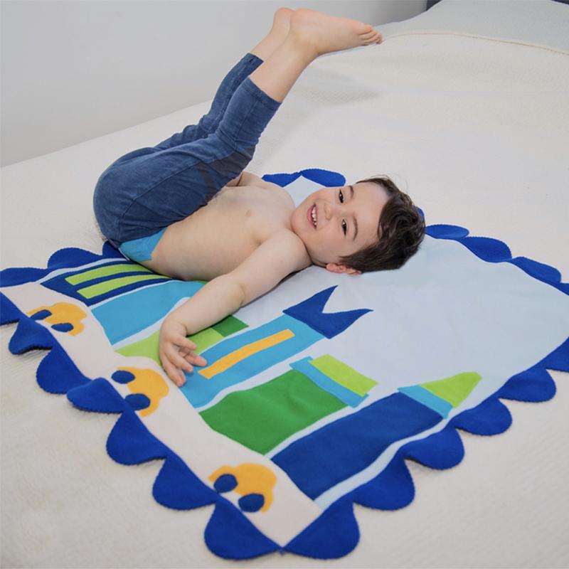 Metro Baby Stroller Blanket  - Blue