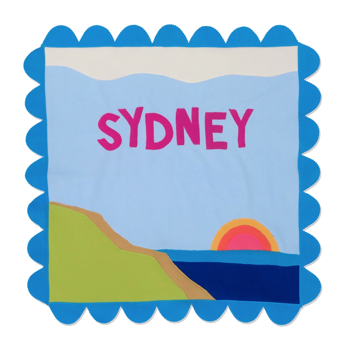 Seaside Stroller Blanket