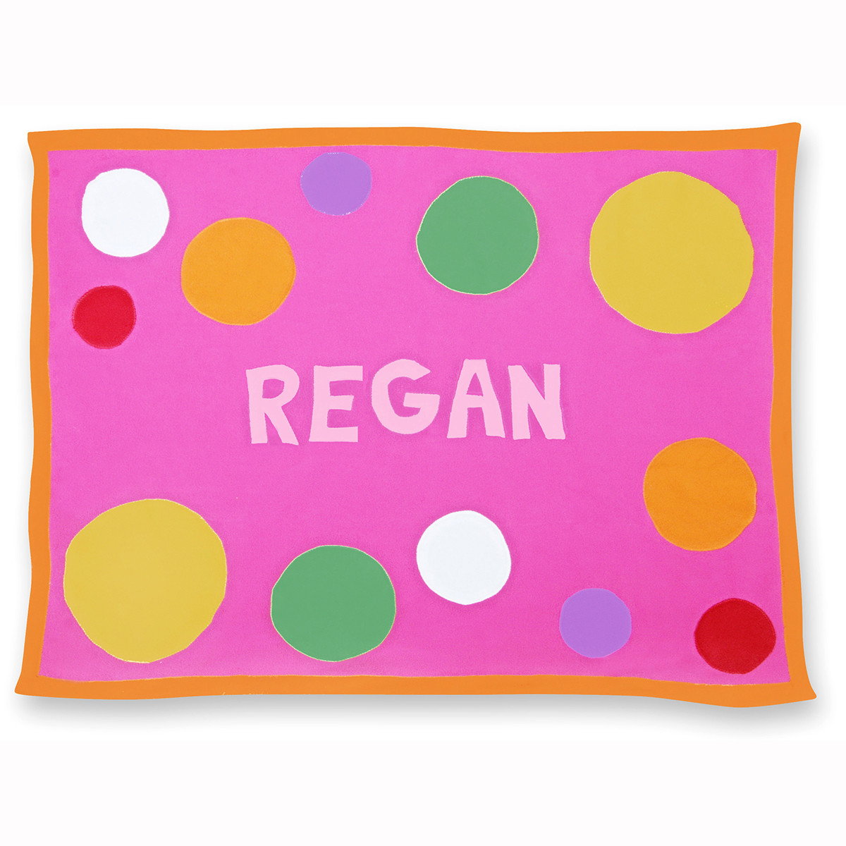 Pink Spot Crib Blanket