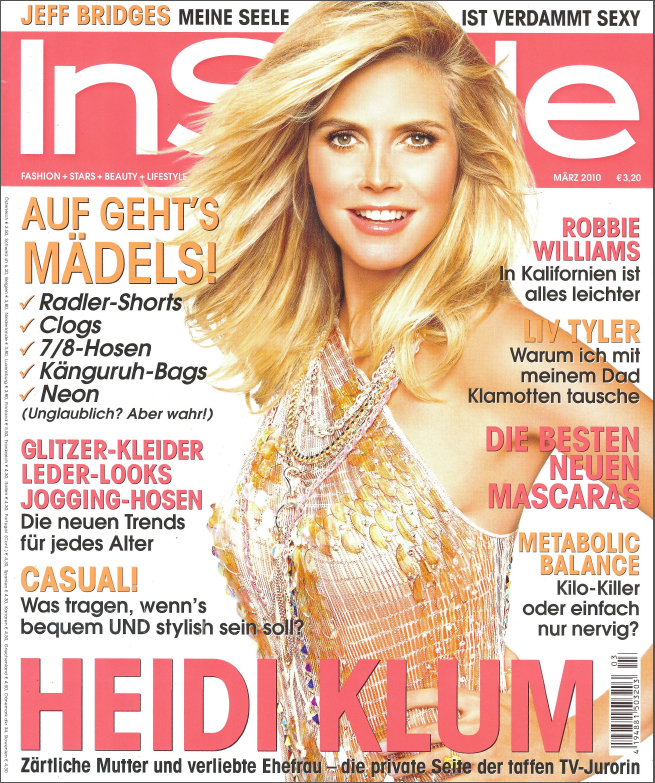 Instyle Germany cover2010
