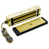 2013-US3-RWE DynaLock 2013 Series 1200 LB Holding Force Single Electromagnetic Gate Lock with Rear Wire Exit in Bright Brass