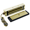 2013-US4-RWE DynaLock 2013 Series 1200 LB Holding Force Single Electromagnetic Gate Lock with Rear Wire Exit in Satin Brass
