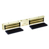 2022TJ22-US3-DSM2 DynaLock 2000 Series 1200 LB Holding Force Double Inswing Electromagnetic Lock with Door Status Switch in Bright Brass