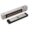 2511-US28-DSM DynaLock 2500 Series 650 LB Mini-Mag Single Electromagnetic Lock for Outswing Door with Door Status Switch in Satin Aluminum