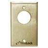 7002-US4 DynaLock 7000 Series Keyswitches Momentary 1 Single Pole Double Throw in Satin Brass