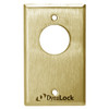 7004-US3 DynaLock 7000 Series Keyswitches Momentary 2 Single Pole Double Throw in Bright Brass