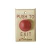 6290-US4 DynaLock 6000 Series Palm Switch 1-5/8'' Diameter Red Plastic Time Delay Mushroom Button in Satin Brass