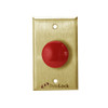 6220-US4 DynaLock 6000 Series Pushbuttons and Palm Switch in Satin Brass