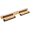 2522-US10-DYN2 DynaLock 2500 Series 650 LB Mini-Mag Double Electromagnetic Lock for Outswing Door with Dynastat Force Sensor in Satin Bronze