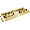 2522TJ2-US3-DSM2 DynaLock 2500 Series 650 LB Mini-Mag Double Electromagnetic Lock for Inswing Door with Door Status Switch in Bright Brass