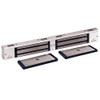 3002-US28-HSM2 DynaLock 3000 Series 1500 LBs Double Electromagnetic Lock for Outswing Door with HSM in Satin Aluminum