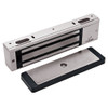 3000-US28-HSM-LED DynaLock 3000 Series 1500 LBs Single Electromagnetic Lock for Outswing Door with HSM and LED in Satin Aluminum