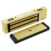 3000-US3-HSM-LED DynaLock 3000 Series 1500 LBs Single Electromagnetic Lock for Outswing Door with HSM and LED in Bright Brass