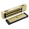 3000-US4-HSM-LED DynaLock 3000 Series 1500 LBs Single Electromagnetic Lock for Outswing Door with HSM and LED in Satin Brass