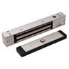 2511-US28-ATS DynaLock 2500 Series 650 LB Mini-Mag Single Electromagnetic Lock for Outswing Door with Anti-Tamper Switch in Satin Aluminum