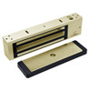 2011-US4-LP DynaLock 2000 Series 1200 LB Holding Force Single Electromagnetic Lock with Low Power Coil Single Lock in Satin Brass