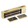 2012-US3 DynaLock 2000 Series 1200 LB Holding Force Single Electromagnetic Lock Pair Outswing in Bright Brass