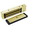 2011TJ20-US3 DynaLock 2000 Series 1200 LB Holding Force Single Inswing Electromagnetic Lock in Bright Brass