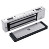 3000-US26-HSM-LED DynaLock 3000 Series 1500 LBs Single Electromagnetic Lock for Outswing Door with HSM and LED in Bright Chrome