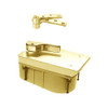 PHQ27-90S-LH-605 Rixson 27 Series Heavy Duty Quick Install Offset Hung Floor Closer in Bright Brass Finish