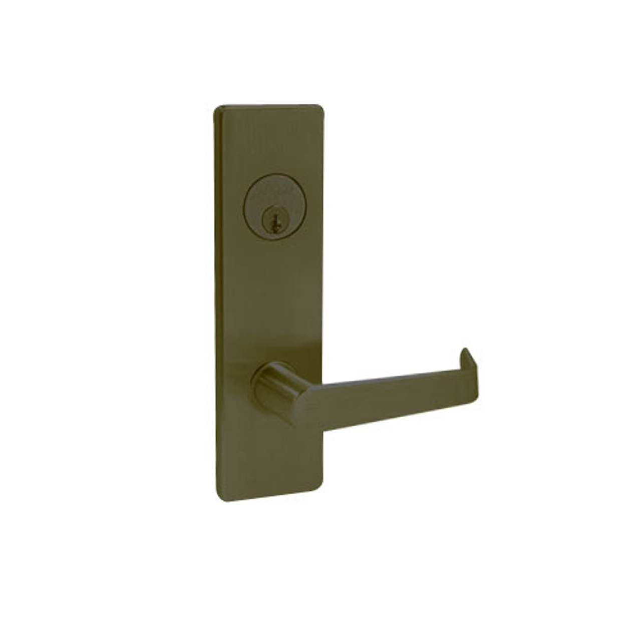 MA431P-DN-613 Falcon Mortise Locks MA Series Classroom Security with  deadbolt DN Lever with Escutcheon Style in Oil Rubbed Bronze