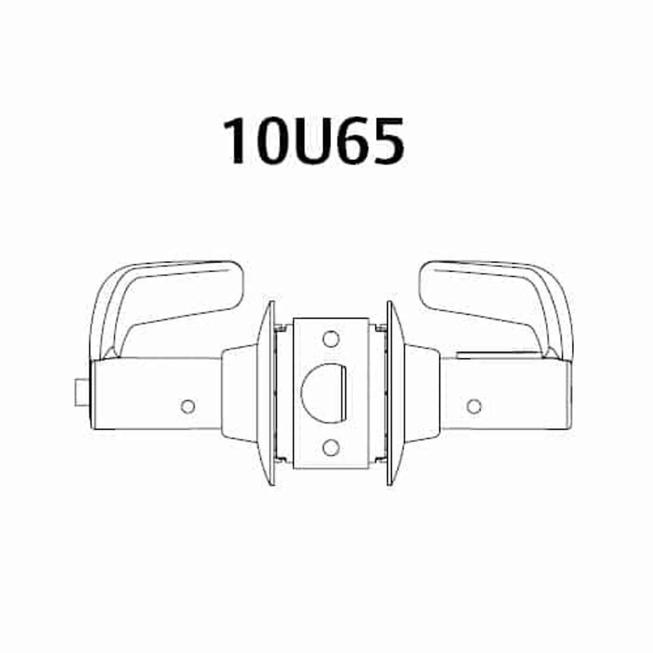 28-10U65-GJ-10B Sargent 10 Line Cylindrical Privacy Locks