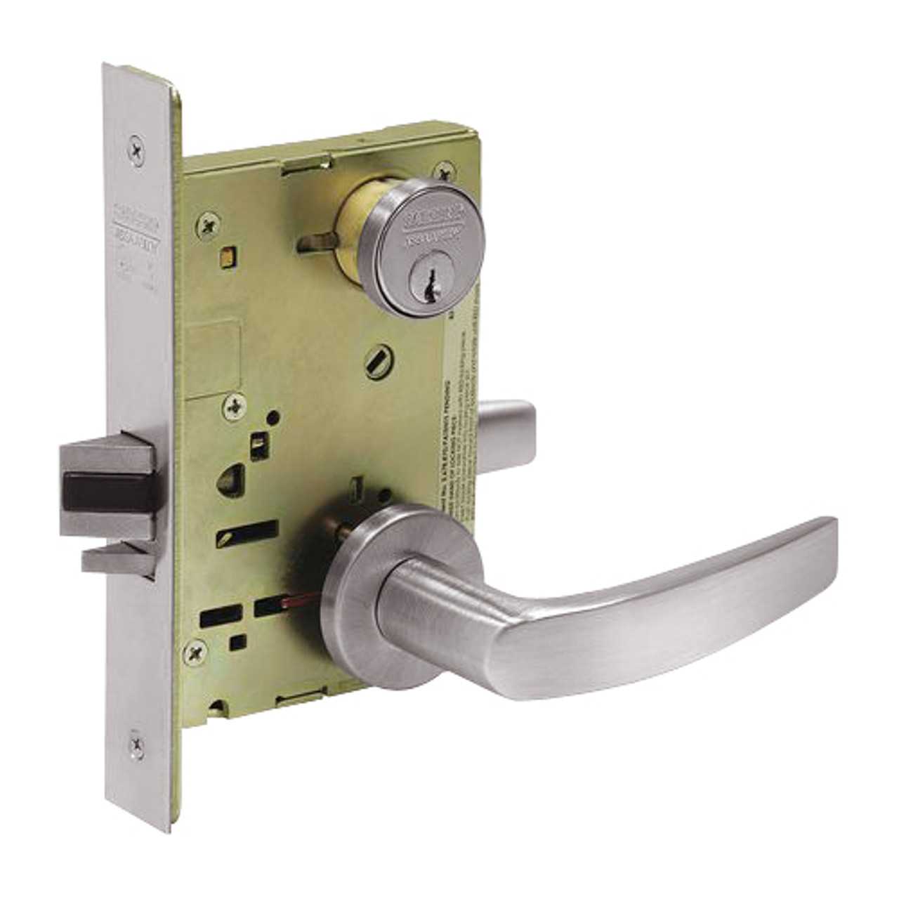8238-LNB-32D Sargent 8200 Series Classroom Security Intruder Mortise Lock with LNB Lever Trim in Satin Stainless Steel