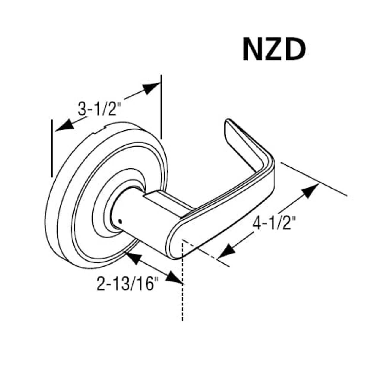 2-3//4 Backset Corbin Russwin CL3357-AZD-626-LC Grade 1 Storeroom Non Handed Satin Chrome 626 Steel//Zinc//Brass