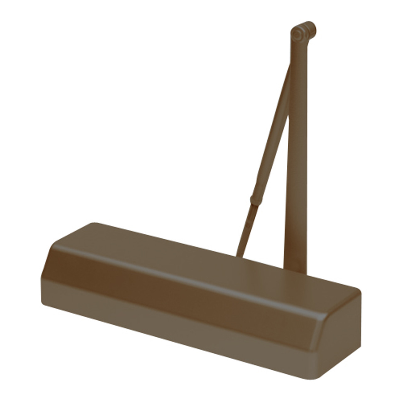D-4550-690 Stanley D-4550 Surface Closers with Standard Parallel and Top Jamb Arm in Statuary Bronze Finish