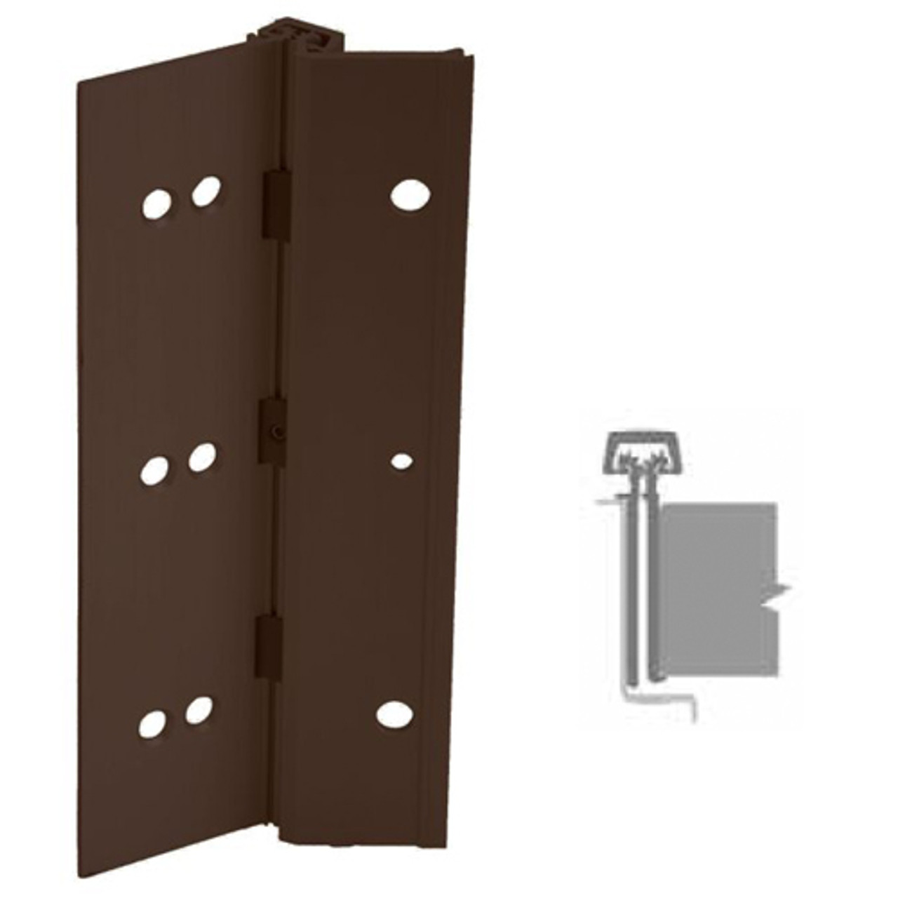 224HD-313AN-83-EPT IVES Full Mortise Continuous Geared Hinges with  Electrical Power Transfer Prep in Dark Bronze Anodized