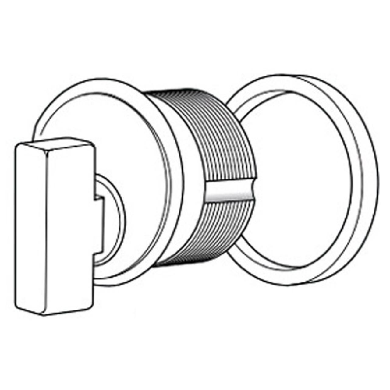 4066-01-313 Adams Rite Thumbturn Cylinder in Dark Bronze Anodized