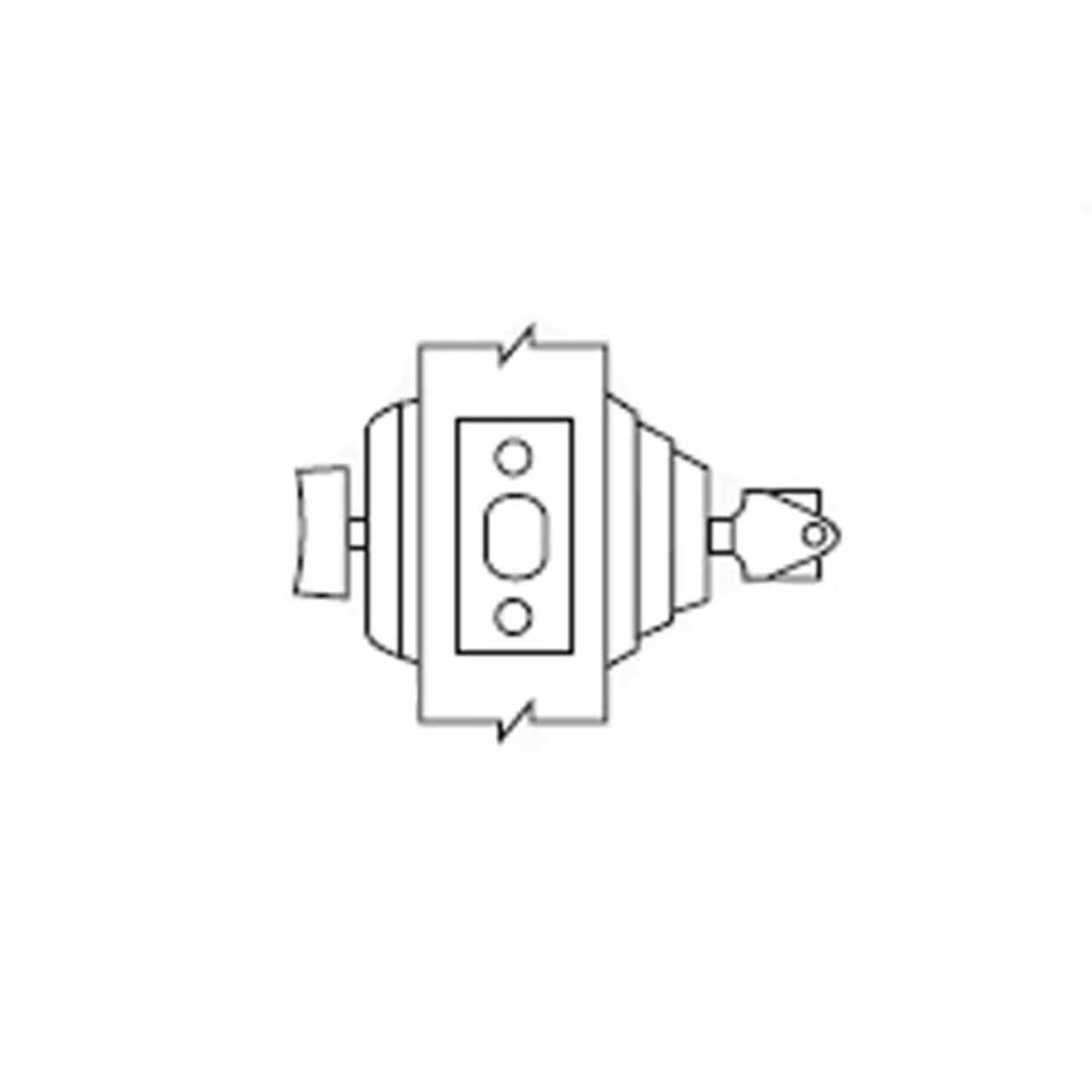 E61-03 Arrow Lock E Series Deadbolt Single Cylinder with Thumbturn in Bright Brass