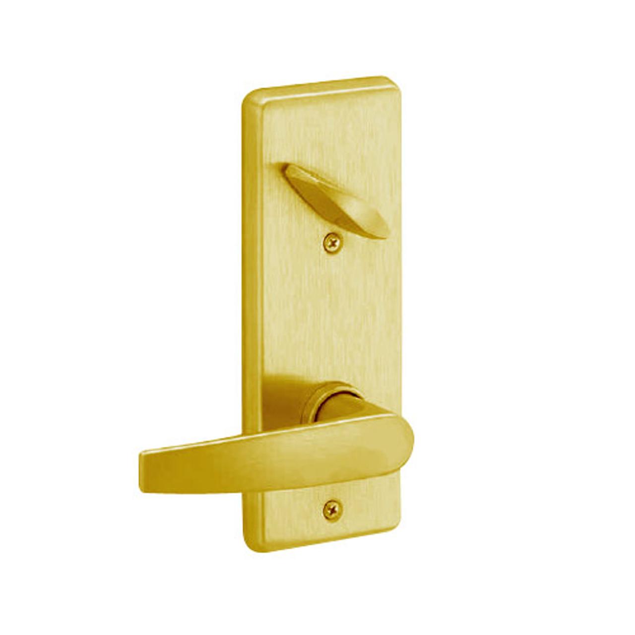 S290-JUP-605 Schlage S290 Jupiter Style Interconnected Lock in Bright Brass