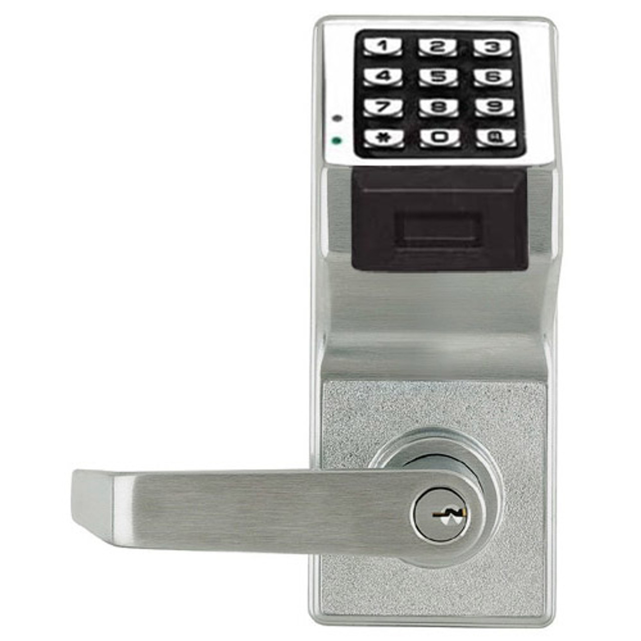 PDL6100-US26D Alarm Lock Trilogy Electronic Digital Lock in Satin Chrome Finish
