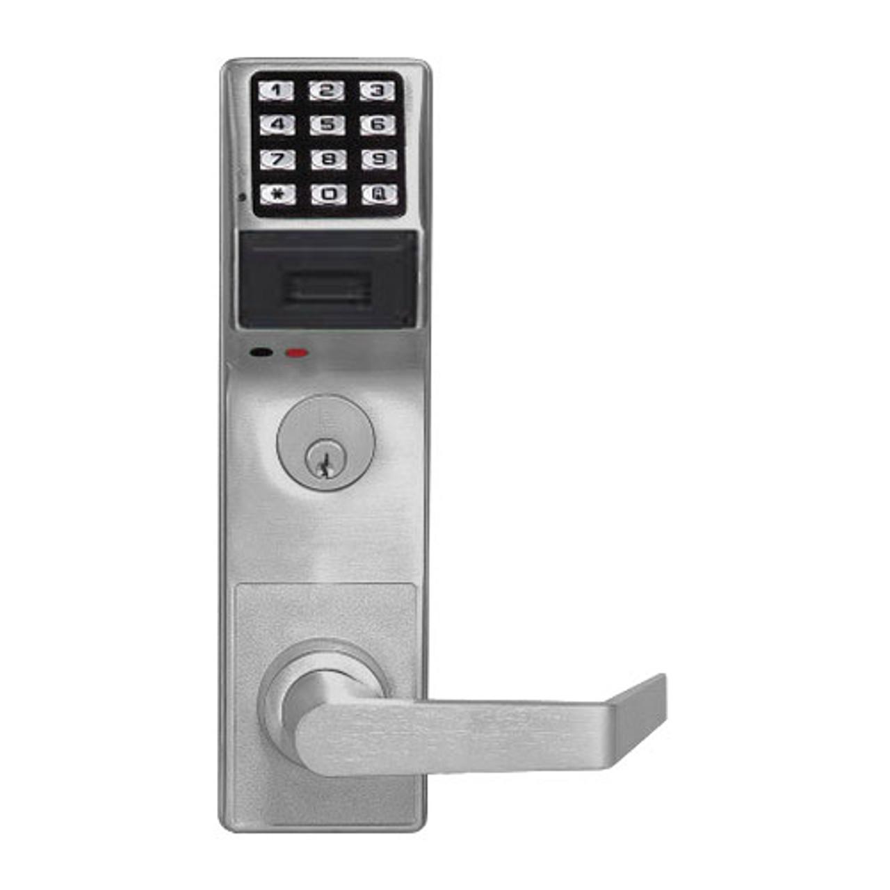 PDL3500DBR-US26D Alarm Lock Trilogy Electronic Digital Lock in Satin Chrome Finish