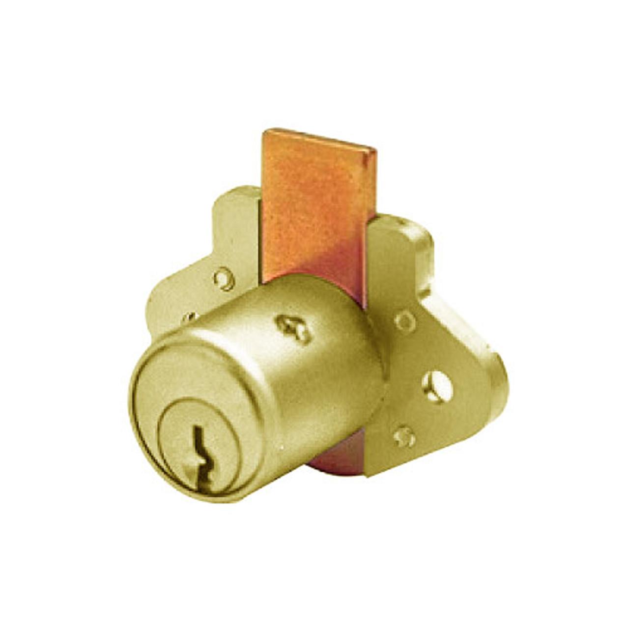 Olympus R078-KD-US4 Cabinet Lock Diamond Back Drawer Lock in Satin Brass Finish