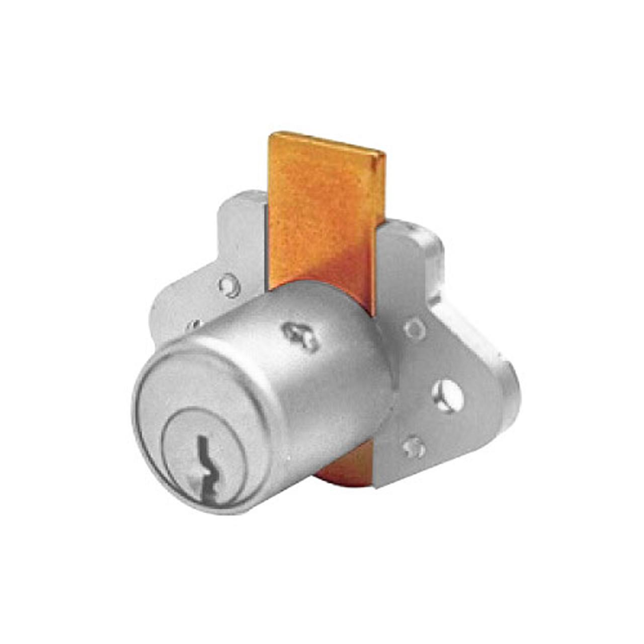 Olympus N078-KD-26D Cabinet Lock Diamond Back Drawer Lock in Satin Chrome Finish