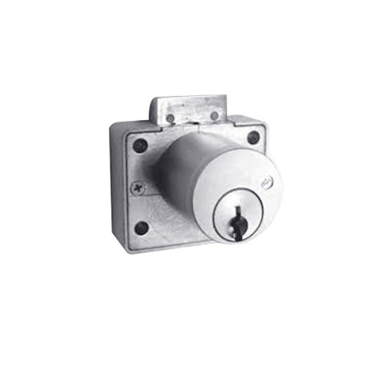Olympus L78V-VH-KA101-26D-1-3/8 Drawer Latch Cabinet Lock in Satin Chrome Finish