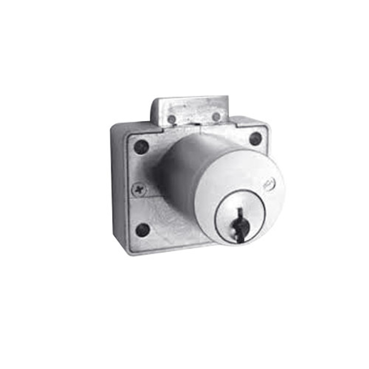 Olympus L78V-VH-KD-26D-1-1/8 Drawer Latch Cabinet Lock in Satin Chrome Finish