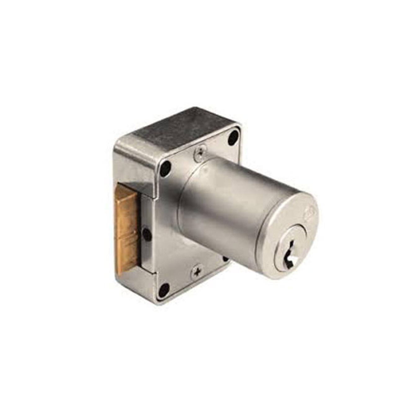 Olympus 999R-RH-KA101-26D-7/8 Cabinet Locks in Satin Chrome Finish