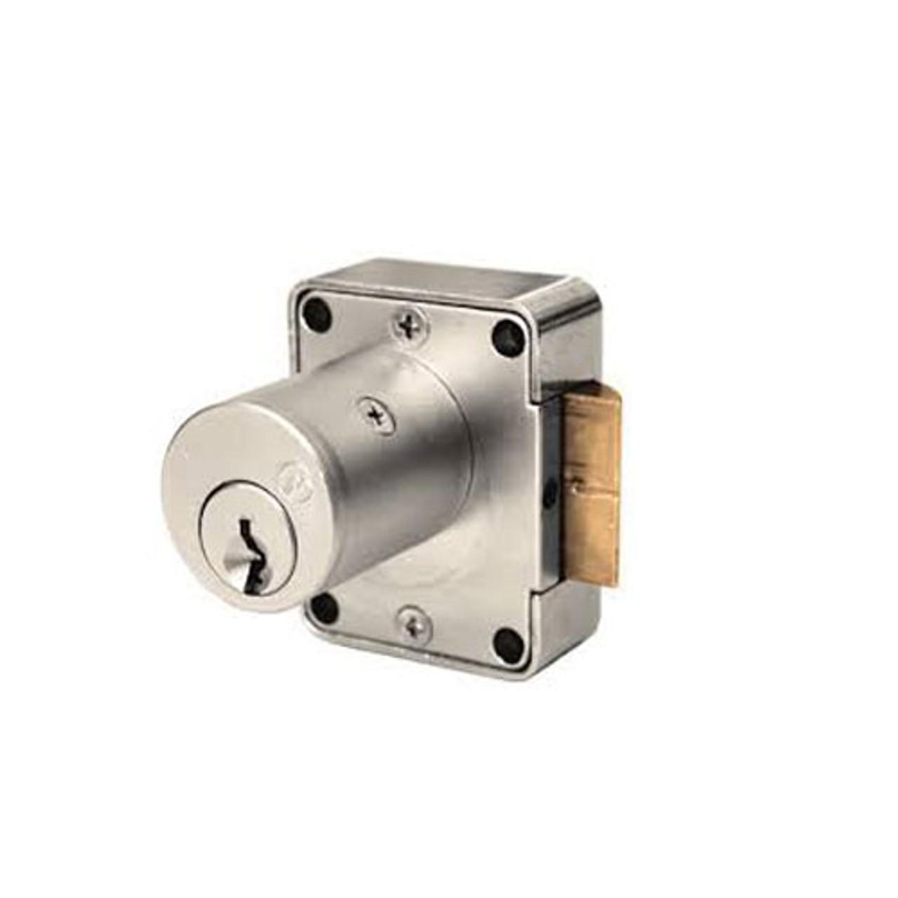 Olympus 999L-LH-KA101-26D-7/8 Cabinet Locks in Satin Chrome Finish