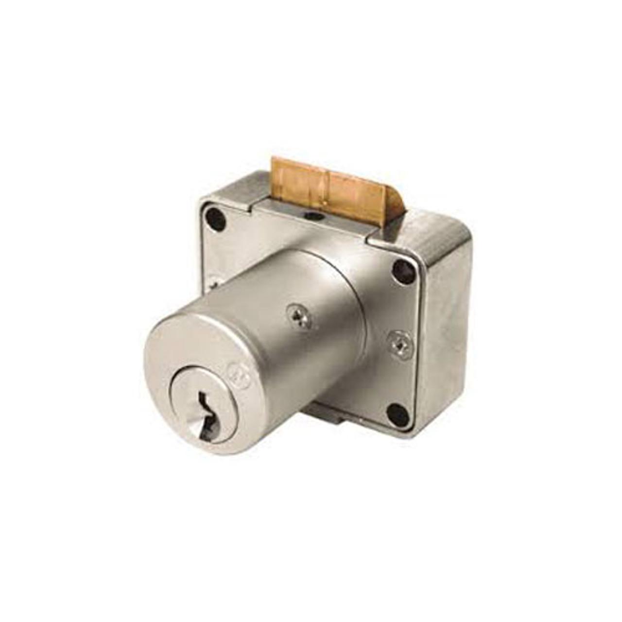 Olympus 996V-VH-KA4T3-26D-7/8 Cabinet Locks in Satin Chrome Finish