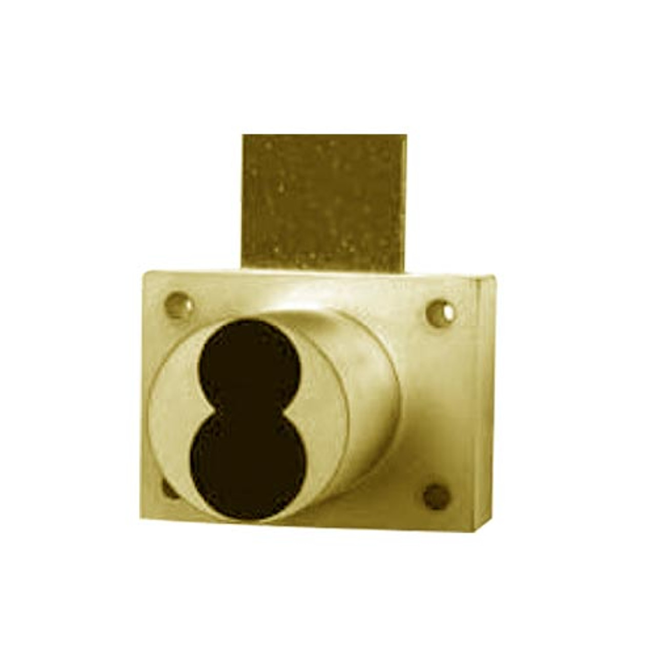 Olympus 888ICP-US3 Cabinet Drawer Deadbolt Lock for Schlage Full-Size IC Core in Bright Brass